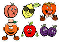 Fruits icons set Stock Images