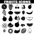 Fruits icons set on white background vector illustration Royalty Free Stock Photography