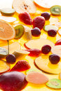 Fruits isolated sunlight in juice still life Royalty Free Stock Image