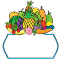 Fruits label eps illustration of frame this file info version illustrator document inches width height document color mode Royalty Free Stock Photo