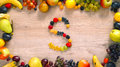Fruits made letter S