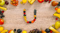 Fruits made letter U