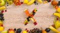 Fruits made letter X