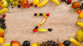 Fruits made letter Z