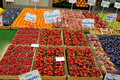 Fruits on a market stall Royalty Free Stock Image