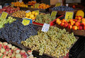Fruits market stall with variety of fresh Stock Image
