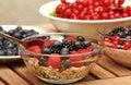 Fruits muesli with various fresh Royalty Free Stock Image