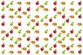 stock image of  Fruits pattern. Fresh apples and oranges isolated on white