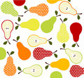 Fruits, pears icons Royalty Free Stock Photography
