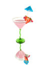 Fruits pink coctail Royalty Free Stock Photo