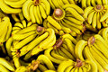 Fruits. Ripe Bananas At Market. Healthy Raw Potassium Rich Food. Royalty Free Stock Photo