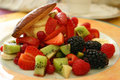 Fruits salad on a plate Royalty Free Stock Photo