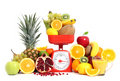 Fruits with scale Royalty Free Stock Photo