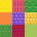 Fruits seamless pattern series 1 Royalty Free Stock Photo
