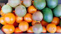 Fruits serveral colourfull used to make juices and salades suits as oranges mangos apples Royalty Free Stock Images