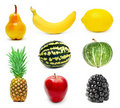 Fruits set  Royalty Free Stock Photos