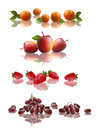 Fruits set collection realistic on white background Stock Photo