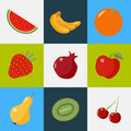 Fruits Set. Healthy Food. Vegetarian Food. Healthy Lifestyle Royalty Free Stock Photo