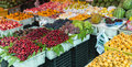 Fruits stall various fresh on for sell Royalty Free Stock Photos
