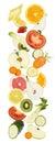 Fruits texture vegetables food diet concept template