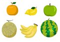 Fruits vector illustration of apple melon oranges melon banana watermelon files included eps this image is a Royalty Free Stock Photo