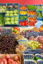 Fruits and vegetable display Stock Images