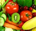 Fruits with vegetables Stock Image