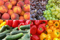 Fruits and Vegetables Background Royalty Free Stock Photo