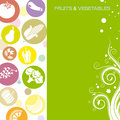 Fruits and vegetables background space for text or photo Royalty Free Stock Photography