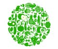 Fruits and vegetables berries. Organic food icon