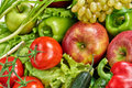 Fruits and vegetables colorful fresh Stock Photo