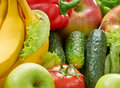 Fruits and vegetables colorful fresh Royalty Free Stock Photos