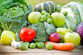 Fruits and vegetables fresh organic Royalty Free Stock Images