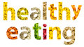 Fruits and vegetables healthy eating concept Stock Images