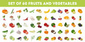 Fruits and vegetables. Royalty Free Stock Photo
