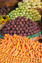 Fruits and vegetables on a market Royalty Free Stock Photography