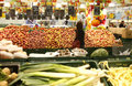 Fruits and vegetables at supermarket Royalty Free Stock Photos