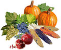 Fruits and vegetables for Thanksgiving Royalty Free Stock Photography