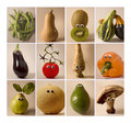 Fruits & vegetables with toy eyes Royalty Free Stock Image