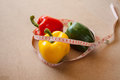 Fruits vegetables weight loss and health care Stock Images