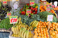 Fruits and veggies at corner stall in italy Royalty Free Stock Photography