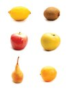 Fruits  on white background Royalty Free Stock Image