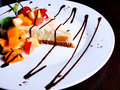 Fruity Cheescake delight with choco Stock Image
