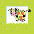 Fruity cow Royalty Free Stock Photography