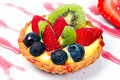Fruity custard tart Royalty Free Stock Photo