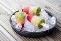 Fruity ice cream homemade sweet food Stock Photography