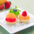 Fruity jelly cupcake Royalty Free Stock Photography