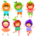 Fruity kids Royalty Free Stock Photo