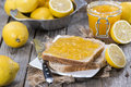 Fruity lemon jam homemade with some fresh fruits Royalty Free Stock Photography