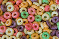 Fruity oat cereal close up picture of Royalty Free Stock Photos
